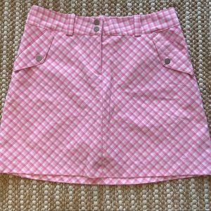 Vintage Y2K Pink Plaid Nike Golf Skirt